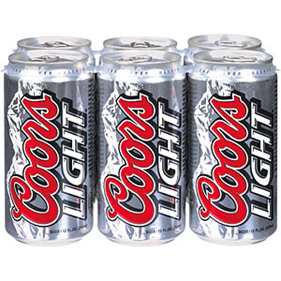 COORS LIGHT 12OZ 6CAN