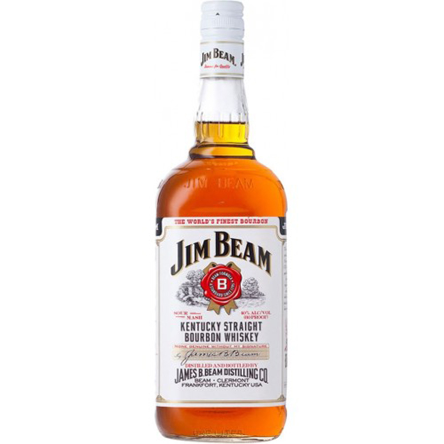 JIM BEAM WHITE LABEL 1.75