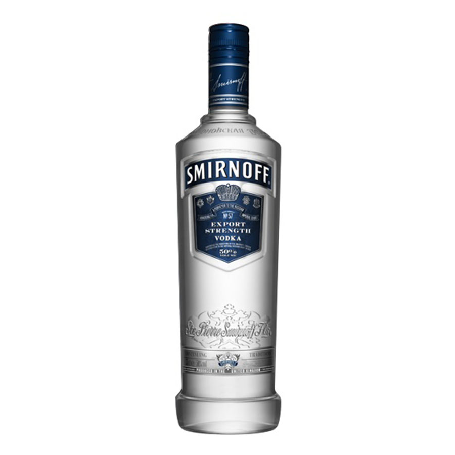 SMIRNOFF 100 PROOF VODKA LTR