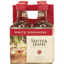 SUTTER HOME WHITE ZINFANDEL 187ML 4PK